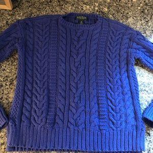 Lauren Ralph Lauren Cable Sweater- Blue